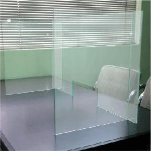 卓上パーテーションC型使用例 飛沫感染防止パーテーション