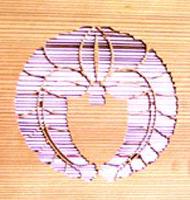 木材家紋 透かし彫り