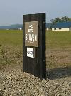 鉄のエッチング銘板(パン工房stoven)