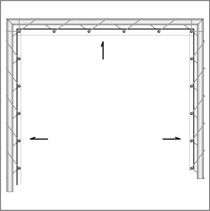 横断幕テント 懸垂幕テント1