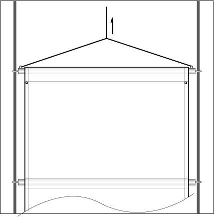 横断幕テント 懸垂幕テント2