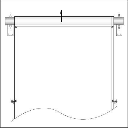 懸垂幕テンション装置