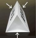 看板用ステッカー作成 アクリル机上プレート文字貼り位置