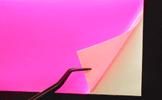 ステッカー作成 蛍光ピンク素材