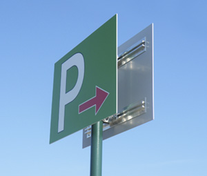 看板用ステッカー作成 駐車場誘導看板